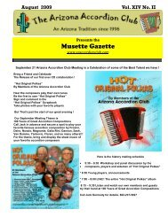 Musette Gazette - Arizona Accordion Club