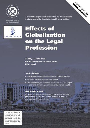 Effects of Globalization on the Legal Profession - International Bar ...