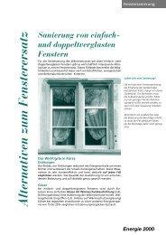 Sanierung von einfach- verglasten Fenstern - Dr. Eicher + Pauli AG
