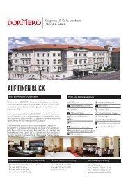 Veranstaltungs-Factsheet - DORMERO Hotel Rotes Ross