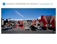 Annual Report FY11 - Museum of Contemporary Art San Diego
