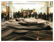 Annual Report FY10 - Museum of Contemporary Art San Diego