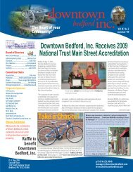 Summer 2009 - Downtown Bedford, Inc.