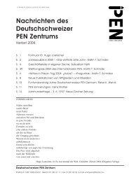 Nachrichten 02_2004 - Deutschschweizer PEN Zentrum