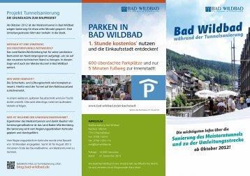 Flyer zur Sanierung des Meisterntunnels - Bad Wildbad Blog