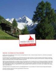 Übersicht der Freizeitaktivitäten in und um Grächen (PDF