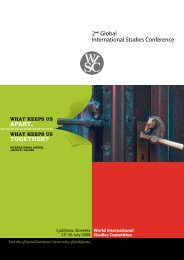 Ljubljana, Slovenia 23–26 July 2008 - World International Studies ...