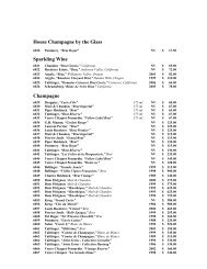 House Champagne by the Glass Sparkling Wine Champagne