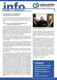 KURZ & BÜNDIG Nr. 1/10 - Lebenshilfe Pforzheim Enzkreis eV