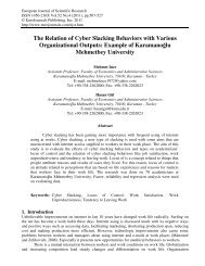 The Relation of Cyber Slacking Behaviors with Various - EuroJournals