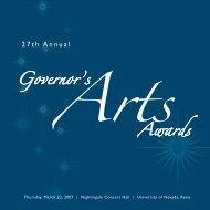 27th Annual Governor's Arts Award - Nevada Arts Council