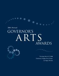 Governor's Arts Awards - Nevada Arts Council