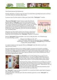 Newsletter März 2010 - Kleines Patchworkhaus Andrea Möller