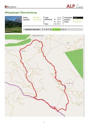 Bergtour Mittagskogel- Überschreitung - Region Villach