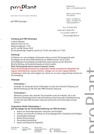 Angebot Schulung Psm Mrz 2010