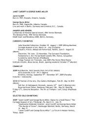 JANET CARDIFF & GEORGE BURES MILLER Janet ... - Inhotim