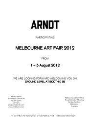 melbourne melbourne art fair 2012 art fair 2012 art fair 2012 - Arndt