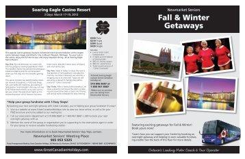Fall & Winter Getaways