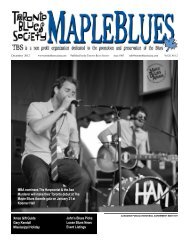 December 2012 - Toronto Blues Society