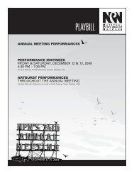 PLAYBILL - National Performance Network