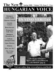 THE NEW HUNGARIAN VOICE SPRING 2008