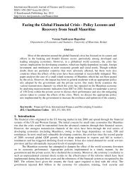 Facing the Global Financial Crisis - Policy Lessons ... - EuroJournals