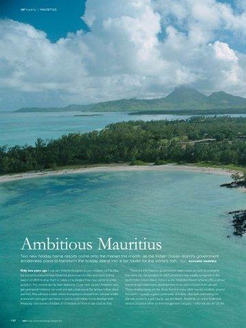 Ambitious Mauritius - Villas Valriche
