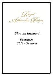 royal alhambra palace hotel 2013 summer english factsheet