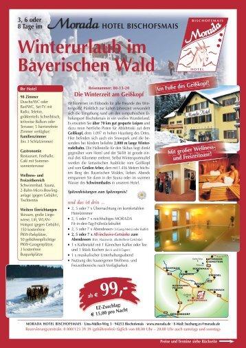 Winterurlaub im Bayerischen Wald - Morada Hotels & Resorts