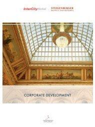 CORPORATE DEVELOPMENT - Steigenberger Hotel Group