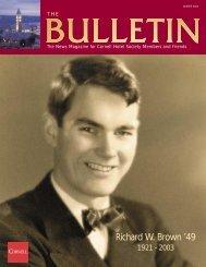 Richard W. Brown '49 - Cornell School of Hotel Administration ...