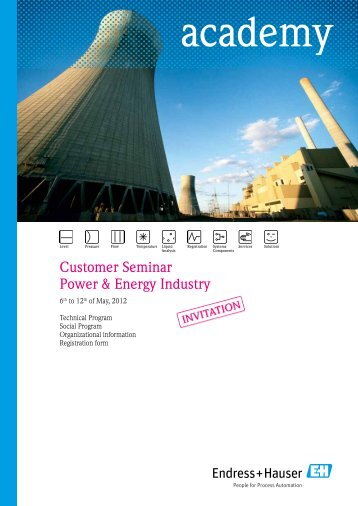Customer Seminar Power & Energy Industry - Endress+Hauser