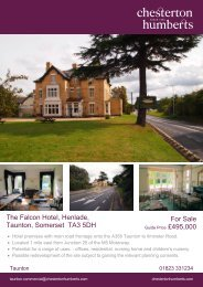 The Falcon Hotel, Henlade, Taunton, Somerset TA3 5DH For Sale