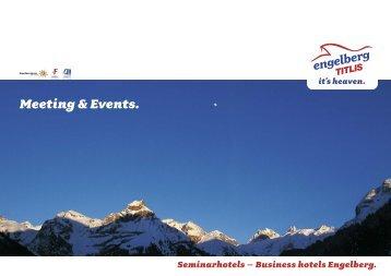 Broschüre der Seminarhotels Engelberg - PDF