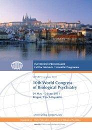 Preliminary Scientific Programme - 11th World Congress of ...