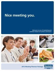 Nice meeting you. - Travelodge Hotel & Conference Centre Regina