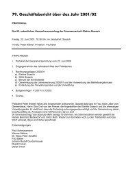 Bezüger- und Anschluss-Statistik per 31.3.2002 - Elektra Sissach