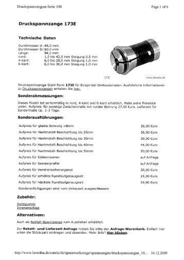 Druckspasnnzamge 173E
