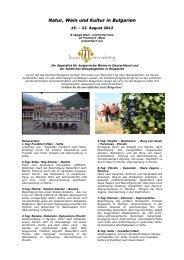 Natur, Wein und Kultur in Bulgarien