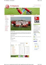 Page 1 of 6 FV Ettenheim - B-Junioren 28.07.2011 http://www.fv ...