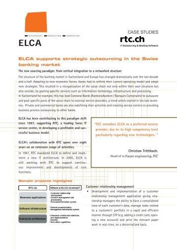 CASE STUDIES - ELCA