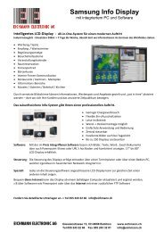 Samsung Info Display - Eichmann Electronic AG