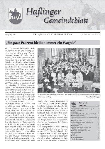 Nr. 3 - 2008 (Ausgabe - Juli, August, September)