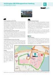 Anfahrtsplan IBM Bildungszentrum Hamburg