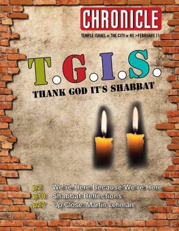 Thank God It's Shabbat - Temple Israel of the City of New York
