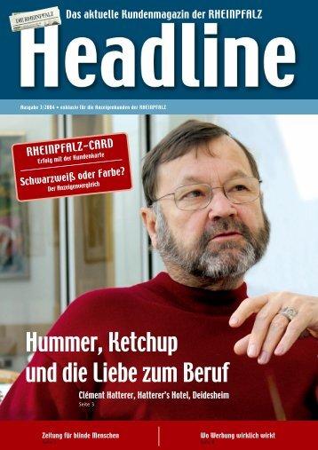 Hummer, Ketchup und die Liebe zum Beruf - Rheinpfalz
