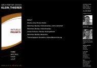 aktuelle projekte - Klein & Thiere