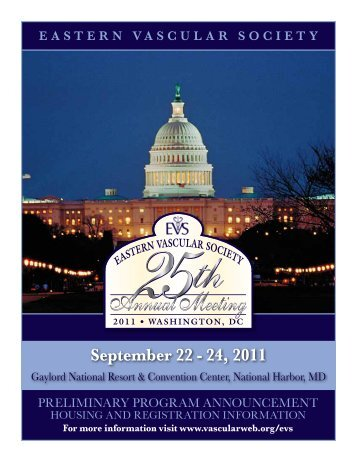 September 22 - 24, 2011 - Annual Meeting - Eastern Vascular Society