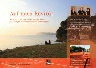 Info-Broschüre Rovinj 2013