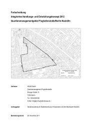 Integriertes Handlungskonzept 2012 - Quartiersmanagement ...